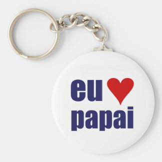 eu amo papai key ring