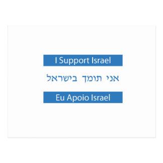 Eu Apoio Israel, I Support Israel Postcard