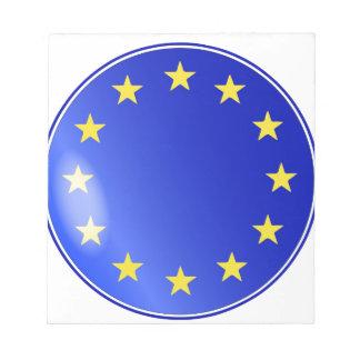 EU Button Notepad