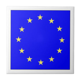 EU European flag Ceramic Tile