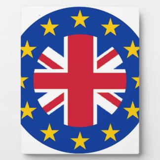 EU - European Union Flag - Union Jack Photo Plaques