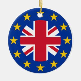EU - European Union Flag - Union Jack Round Ceramic Decoration