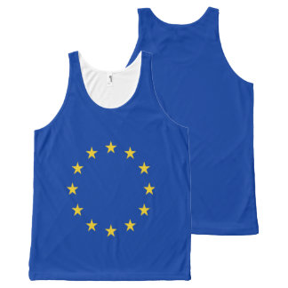 EU Flag All-Over Print Singlet