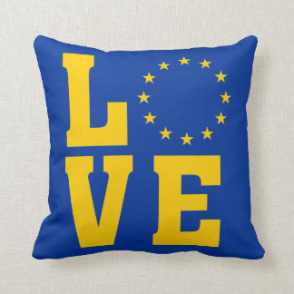 EU Flag, European Union, LOVE Cushion