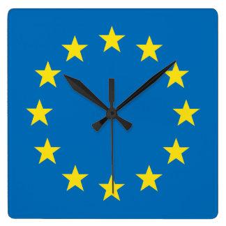 EU flag (European Union) wall clock