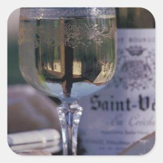 EU, France, Chablis, Local wine Square Sticker
