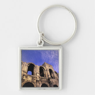 EU, France, Provence, Bouches, du, Rhone, 5 Silver-Colored Square Key Ring