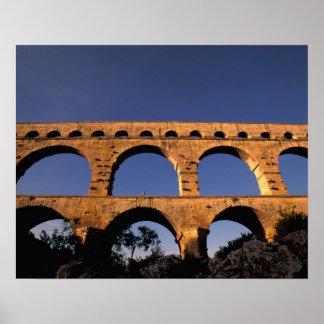EU, France, Provence, Gard, Pont du Gard. Roman Poster