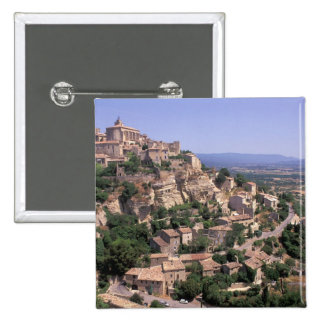 EU, France, Provence, Luberon, Gordes 15 Cm Square Badge