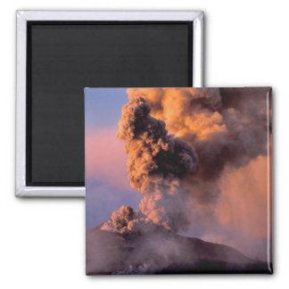 EU, Italy, Sicily, Mt. Etna summit vent Magnet