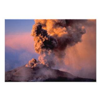 EU, Italy, Sicily, Mt. Etna summit vent Photo Print