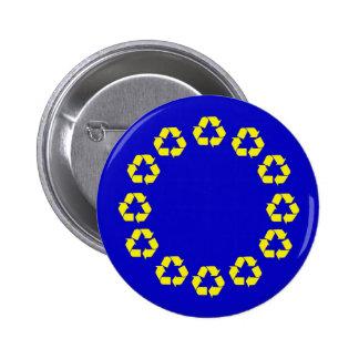EU recycling flag Pin