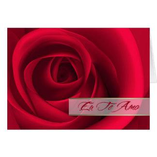 Eu Te Amo. Portuguese Valentine's Day Card