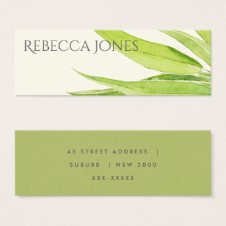 EUCALYPTUS LEAVES WATERCOLOUR FOLIAGE ADDRESS MINI BUSINESS CARD