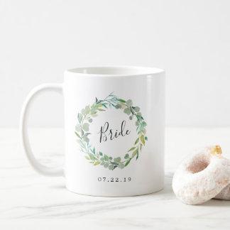 Eucalyptus Wreath Bride Coffee Mug