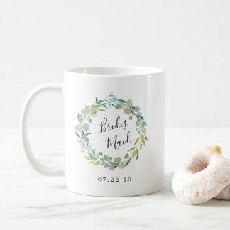 Eucalyptus Wreath Bridesmaid Coffee Mug