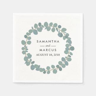 Eucalyptus Wreath Greenery Wedding Napkins Paper Serviettes