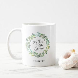 Eucalyptus Wreath Mother of the Groom Coffee Mug