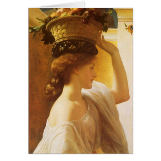 Eucharis - Girl With a Basket of Fruit by Leighton Card