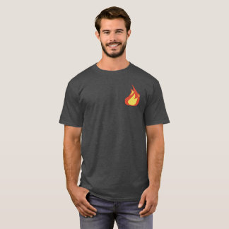 Eucharist Flame on Back T-Shirt