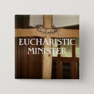 EUCHARISTIC MINISTER 15 CM SQUARE BADGE