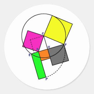 Euclid Classic Round Sticker