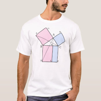 Euclid's proof the the pythagorean theorem T-Shirt