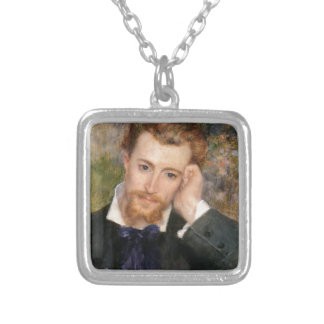 Eugène Murer - Oil on Canvas Silver Plated Necklace