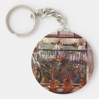 Eugen Manet a I'lle de Wright by Berthe Morisot Keychain
