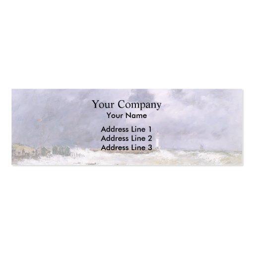 Eugene Boudin- Le Havre. Heavy Winds off Frascati. Business Card Templates