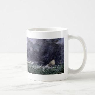 Eugene Boudin- Rough Seas Basic White Mug