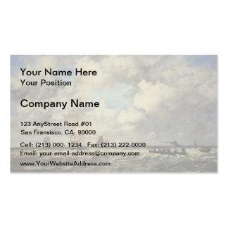 Eugene Boudin- Seascape, Les Lamaneurs Business Card