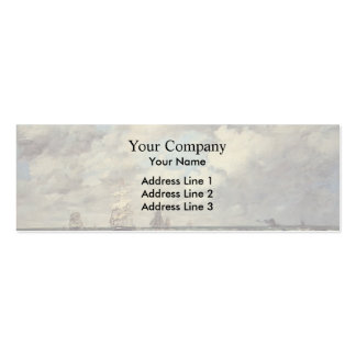 Eugene Boudin- Seascape, Les Lamaneurs Business Cards