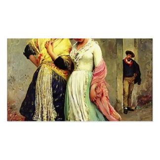Eugene de Blaas- The Flirtation Business Card Templates