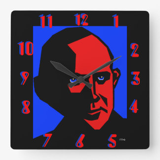 Eugene Debs By Don Busky Square Wall Clock