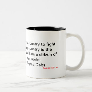 Eugene Debs Two-Tone Coffee Mug