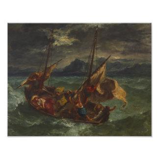 Eugene Delacroix - Christ on the Sea of Galilee Art Photo