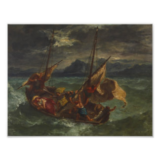 Eugene Delacroix - Christ on the Sea of Galilee Photo Print