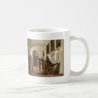 Eugene Delacroix- Christopher Columbus and His Son Basic White Mug