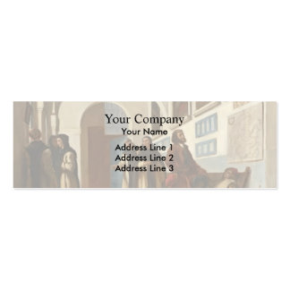 Eugene Delacroix- Christopher Columbus and His Son Business Cards