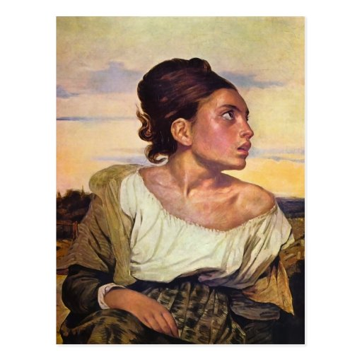 Eugène Delacroix - Orphan in the Cemetery Postcards