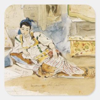 Eugene Delacroix: Sketch for the Women of Algiers Square Sticker