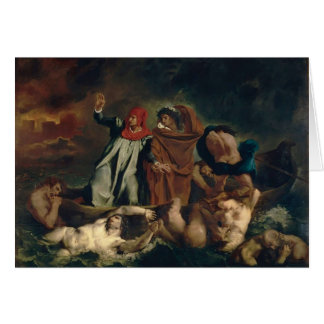 Eugene Delacroix- The Barque of Dante Card