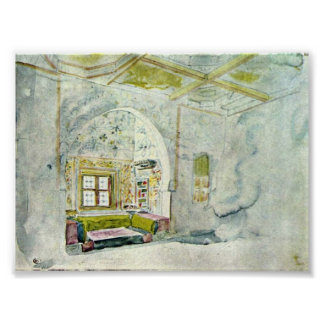 Eugene Delacroix - The palace of the Sultan Print