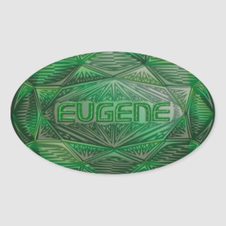 Eugene emerald oval sticker