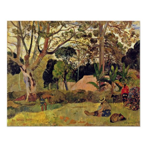Eugene H Paul Gauguin - The big tree Posters