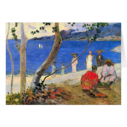 Eugène Henri Paul Gauguin - Beach Scene Card