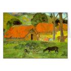 Eugène Henri Paul Gauguin - Le Trois Huttes Card