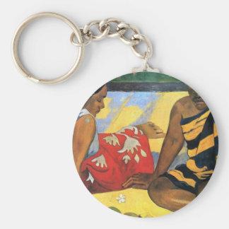 Eugène Henri Paul Gauguin - Two Women From Tahiti Key Ring