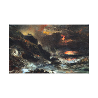 Eugène Isabey A Storm off the Normandy Coast Canvas Print